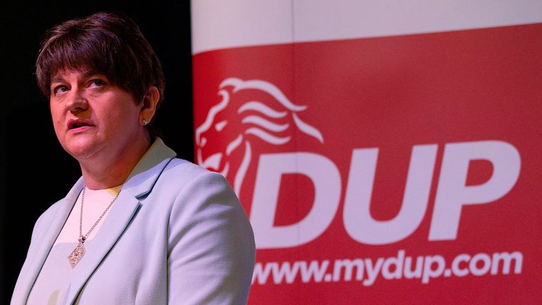 Arlene Foster has not backed Brexit deals presented by the last two prime ministers