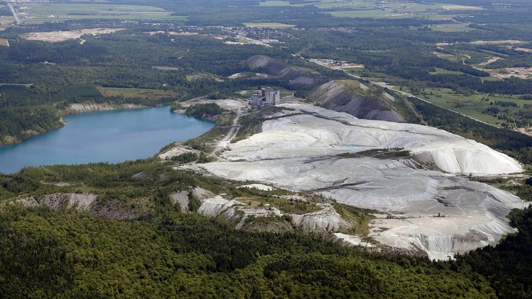An asbestos mine in Tring Jonction, Quebec