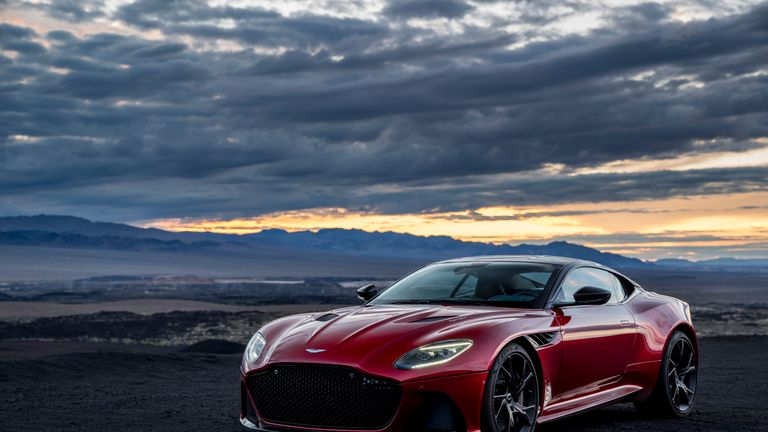 Aston Martin says its DBS Superleggera will be one of four models to feature in No Time To Die, set for release in 2020. Pic: AML