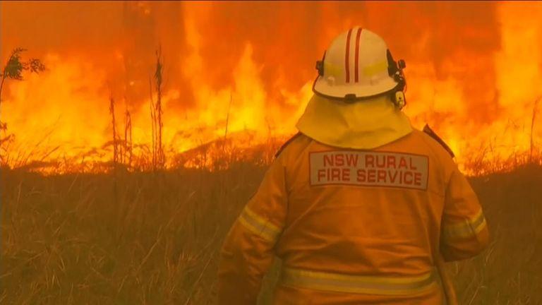 Fire ravage Australia's east coast