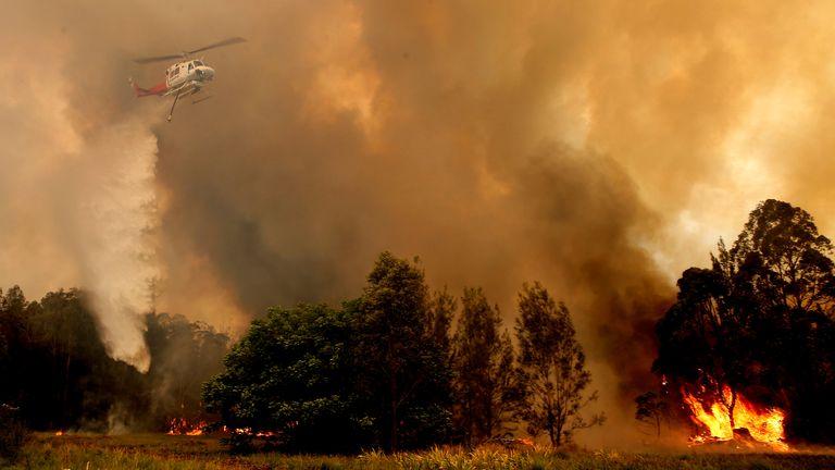 Australia's bushfires still