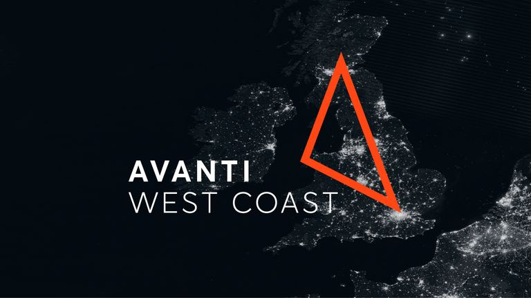 The Avanti logo incorporates the route on which it will operate