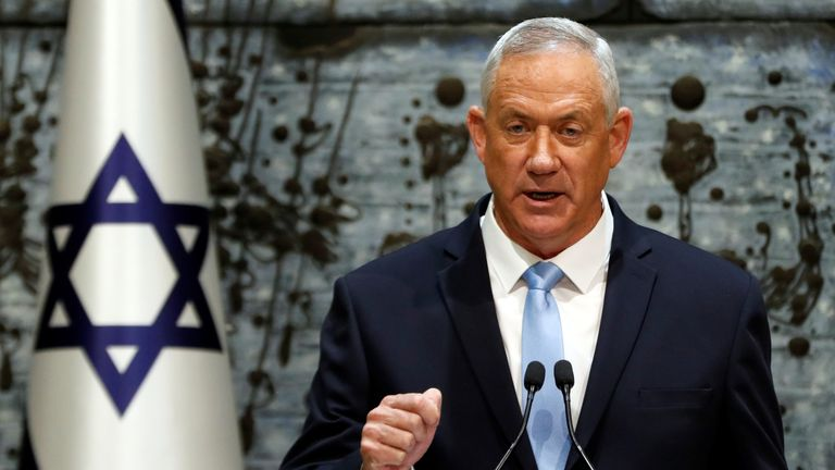 Benny Gantz, leader of the Blue and White party, has failed to form a coalition party
