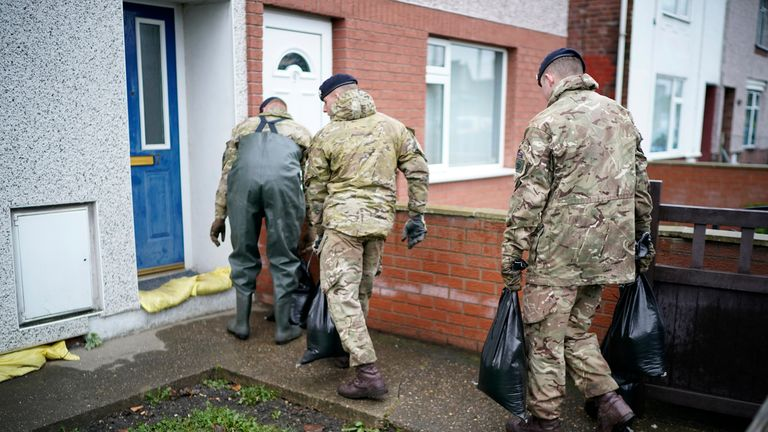 Soldiers have been helping with the flood relief effort in Bentley, Doncaster