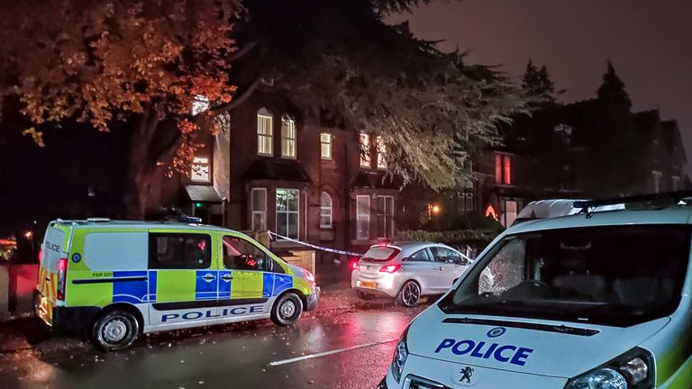Emergency services were called to the property on Oxford Road in Moseley just before 5.30pm on Saturday. Pic: @snappersk