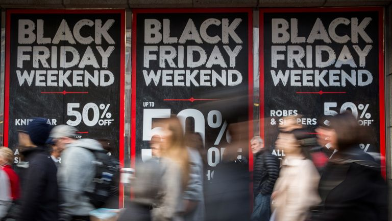 Black Friday falls on the last Friday of November, marking the official start of Christmas shopping