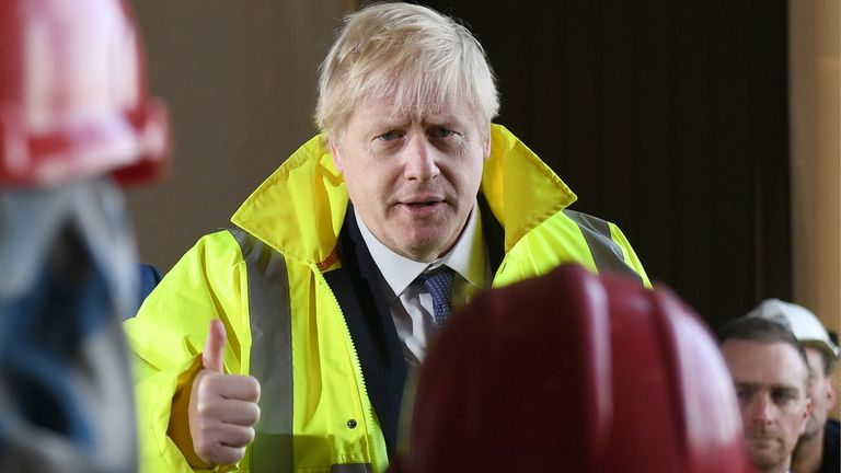Boris Johnson spoke to workers at a Teeside engineering firm