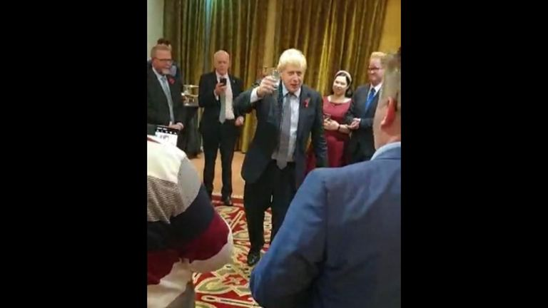 Boris Johnson has told Tory supporters in Northern Ireland there will not be duties, paperwork or form filling on goods produced in the country going to Great Britain.
