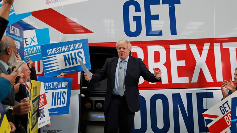 Boris Johnson says every Tory candidate in the general election has told him they will back his Brexit deal in the next parliament