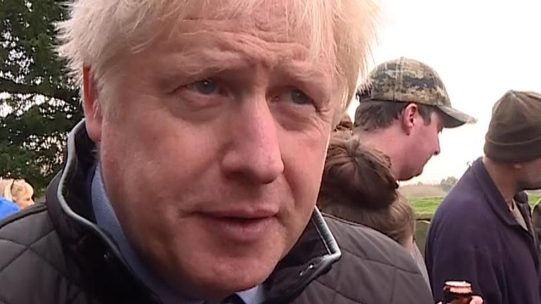 Boris Johnson in Fishlake, South Yorkshire