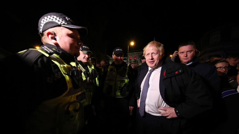Boris Johnson visits Matlock in Derbyshire