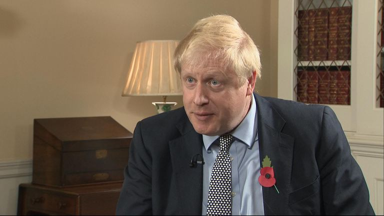 The PM was speaking to Sky's Sophy Ridge