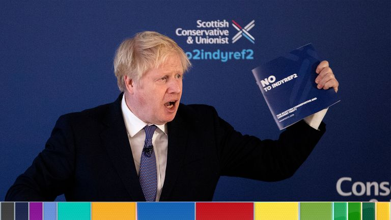 Boris Johnson launched the Conservatives' Scottish manifesto on Tuesday