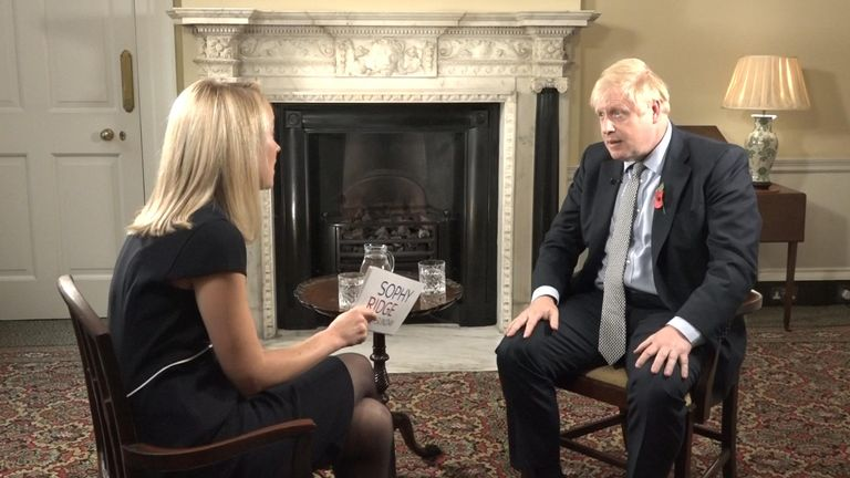 Boris Johnson and Sophy Ridge