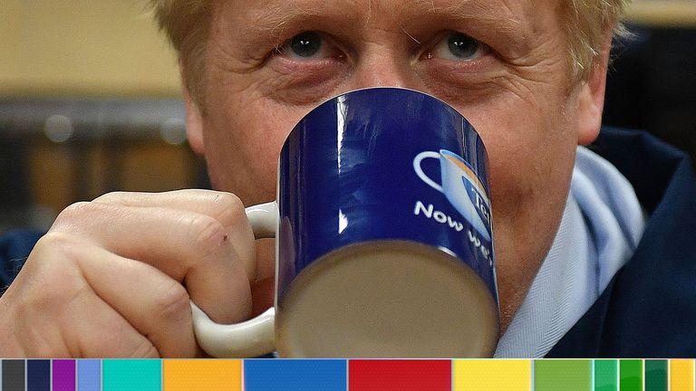 Boris Johnson visited the Tetley Tea factory on Thursday