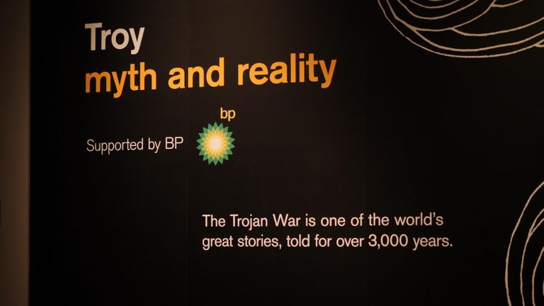 BP is sponsoring an exhibition on Troy at the British Museum