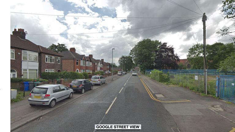 The crash happened in Burnage Lane, Didsbury