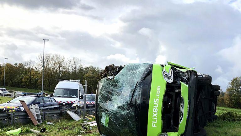 Bus crash in France