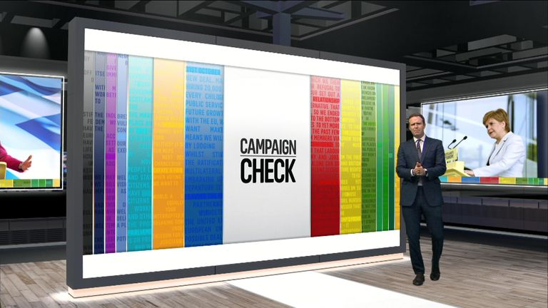 Campaign Check with Sky's Ed Conway