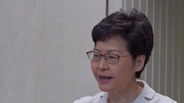Carrie Lam 'looking at the example of UK's Tottenham riots'