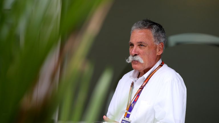 Chase Carey, CEO and Executive Chairman of the Formula One Group, looks on in the Paddock before the Formula One Grand Prix of Singapore at Marina Bay Street Circuit on September 16, 2018