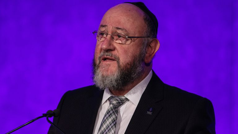 Chief Rabbi Ephraim Mirvis says claims by Labour it is doing 'everything' to tackle antisemitism are 'mendacious'