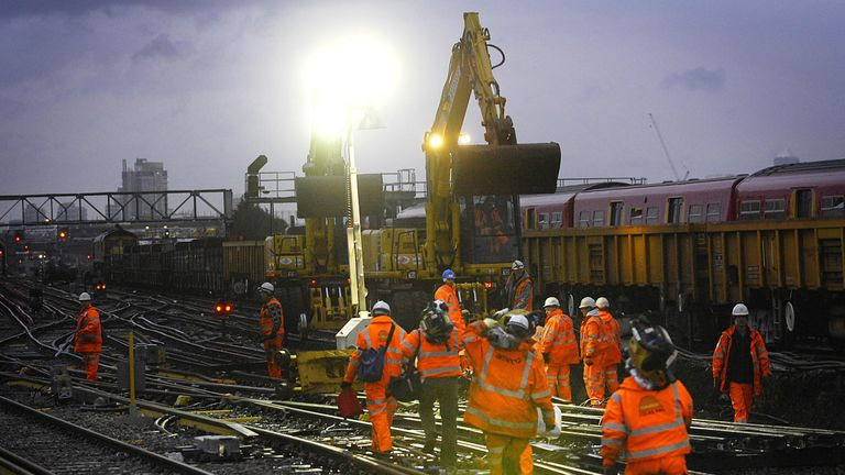 Rail passengers are being urged to check before they travel over Christmas. File pic