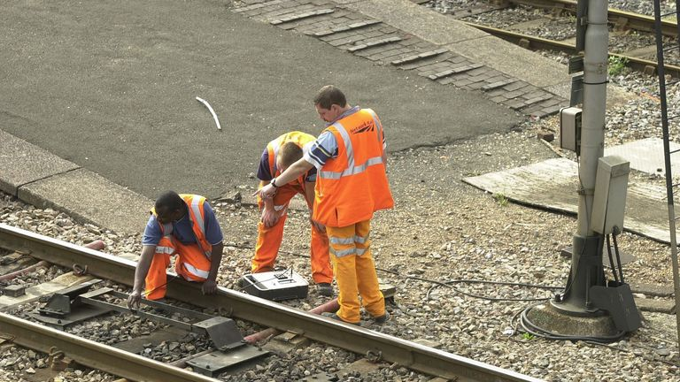 In total, Network Rail is carrying out 386 projects over Christmas. File pic