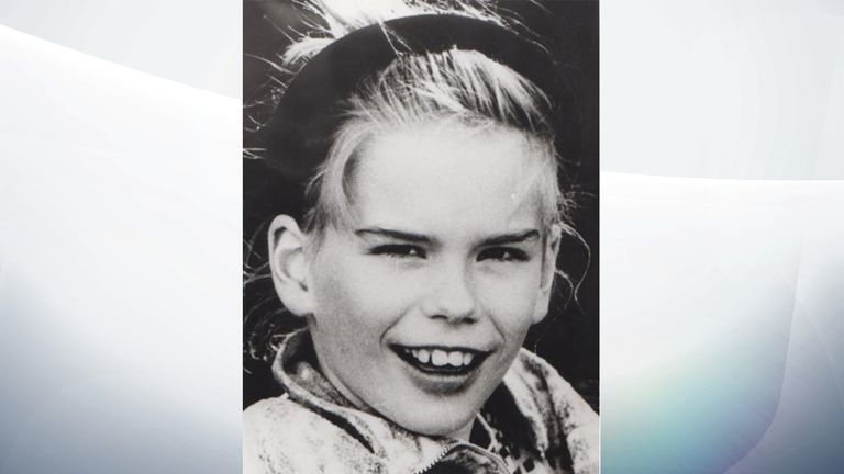 Claudia Ruf, 11, was kidnapped, raped and choked to death in 1996. Her murderer has not yet been caught.. Pic German Police