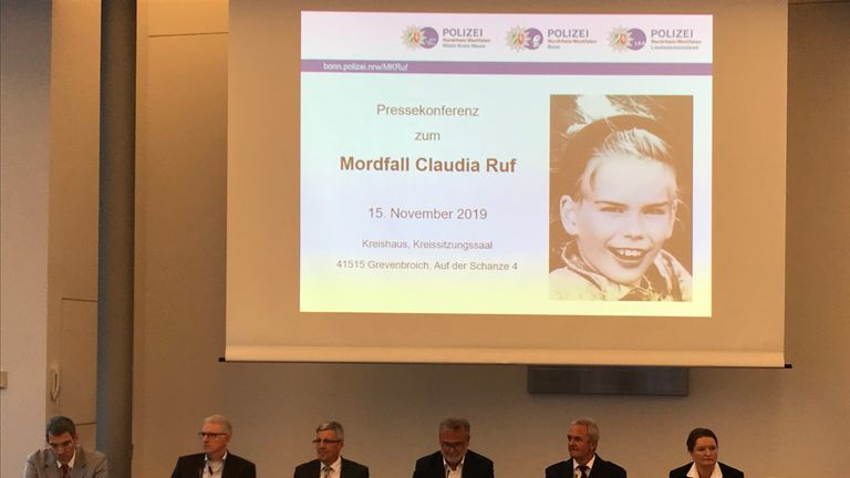 Claudia Ruf, was kidnapped, raped and choked to death by an anonymous murderer in 1996. German police are testing the DNA of 800 men. Pic: German Police