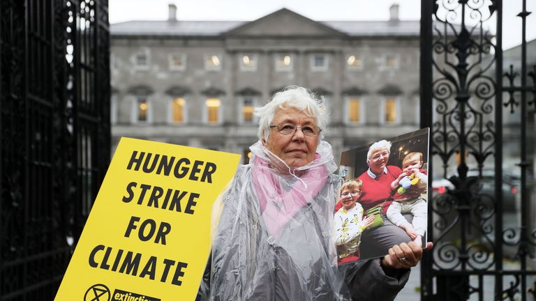 Grandmother Patricia Devlin, 78, is going on hunger strike to highlight climate change