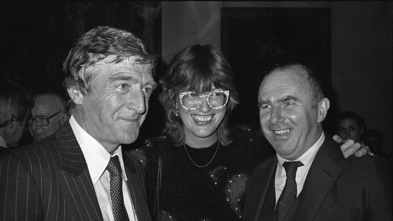 Clive James (R) with Michael Parkinson and Janet Street Porter in 1982