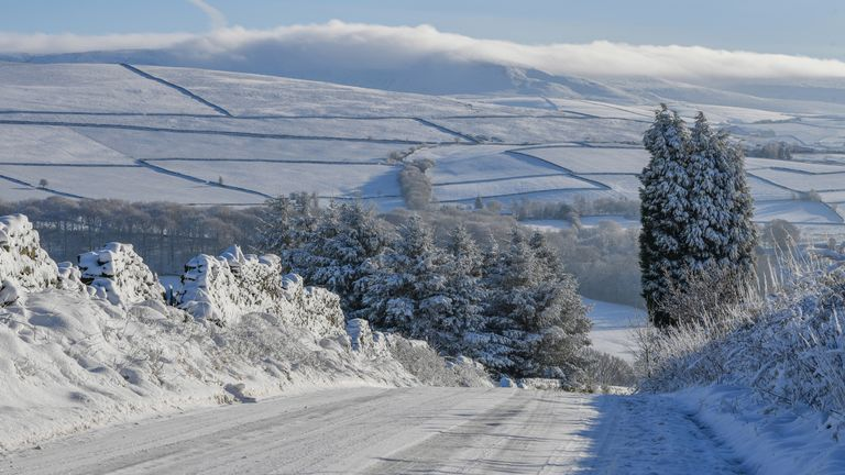 Temperatures are expected to dip to as low as -9C (15.8F) in places. File pic