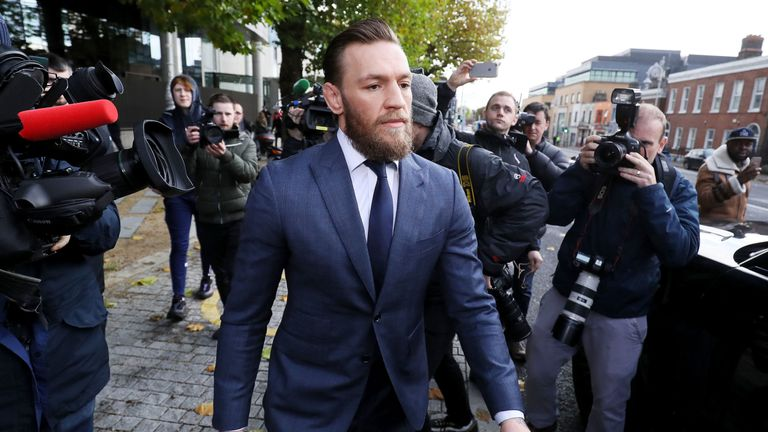 Conor McGregor at Dublin District Court