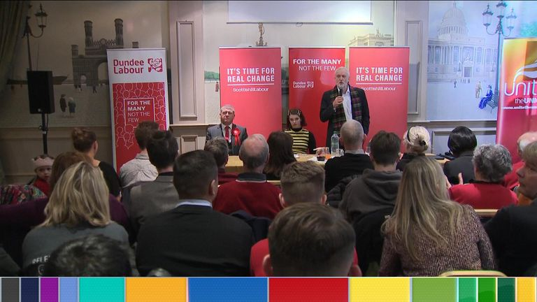 Mr Corbyn said he would take his questions at the end