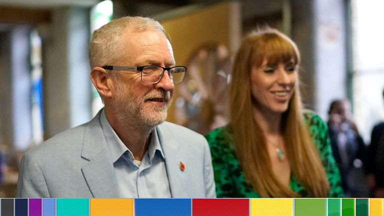 Labour's Jeremy Corbyn and Angela Rayner will be giving a speech in Blackpool
