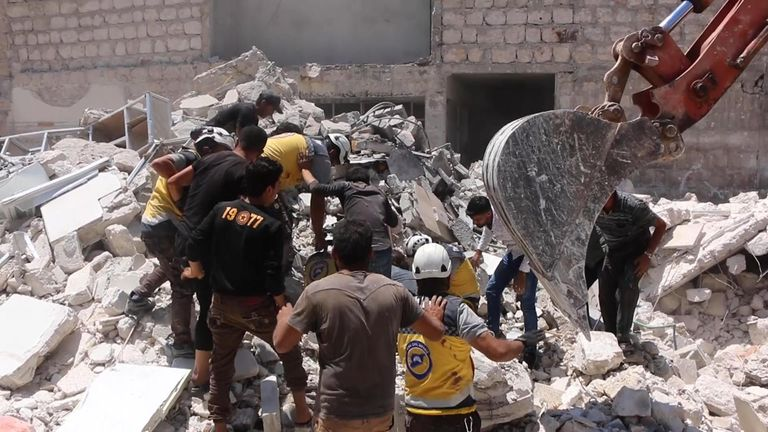 Rescuers worked for six hours before discovering Batul, 7, beneath the rubble