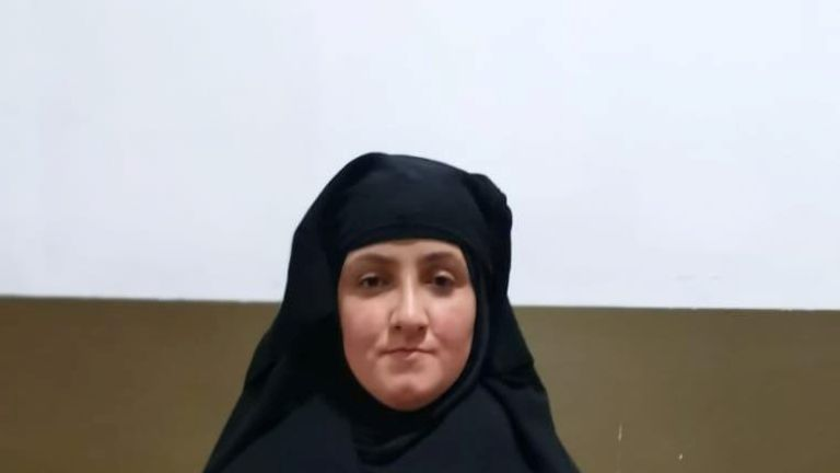 A woman, believed to be the daughter-in-law of Rasmiya Awad