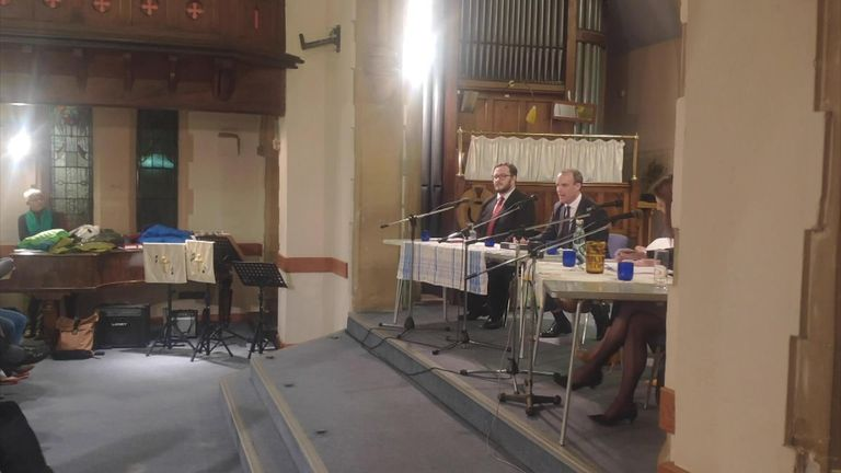 Foreign Secretary Dominic Raab has been heckled and booed by his own constituents at a local hustings event.