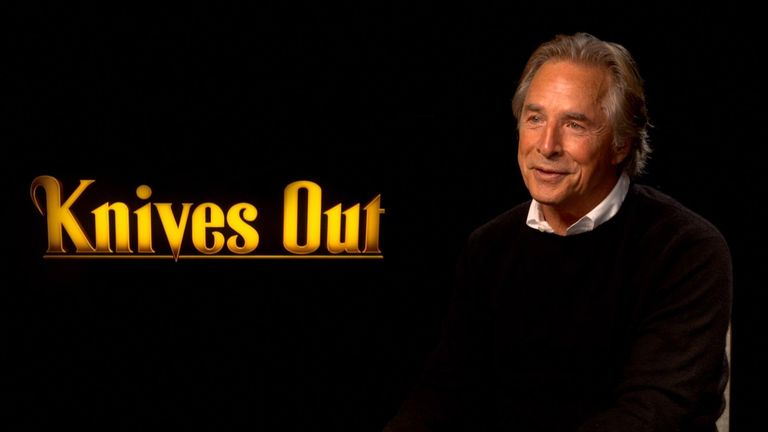 Don Johnson talks to Sky News about latest film Knives Out
