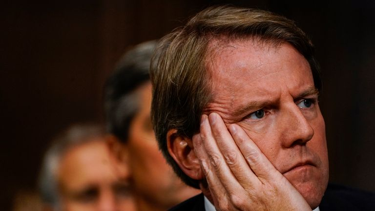 White House counsel Donald McGahn at a Senate Judiciary Committee hearing on Thursday, September 27, 2018