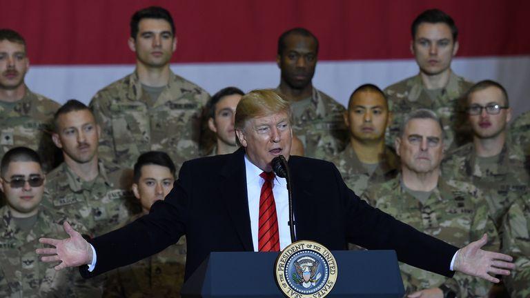 Donald Trump at Bagram airbase