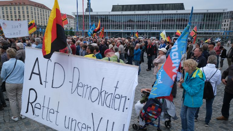 The Alternative fur Deutscheland (AfD) party have strong support in Dresden