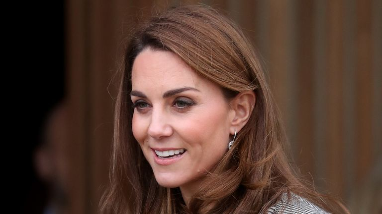 LONDON, ENGLAND - NOVEMBER 12: Catherine, Duchess of Cambridge attends Shout's Crisis Volunteer Celebration Event at Troubadour White City on November 12, 2019 in London, England. Photo by Chris Jackson/Getty Images)