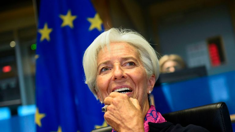 Christine Lagarde, President-designate of the European Central Bank (ECB), speaks prior to attending a European Parliament's Committee on Economic Affairs at the EU Parliament in Brussels on September 4, 2019. (Photo by JOHN THYS / AFP) (Photo credit should read JOHN THYS/AFP/Getty Images)
