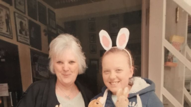 Elaine Reason (left) and daughter Grace died when a tree fell on the car they were travelling in