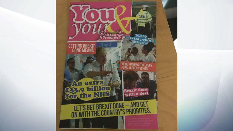Fake election magazine delivered to a voter in Milton Keynes