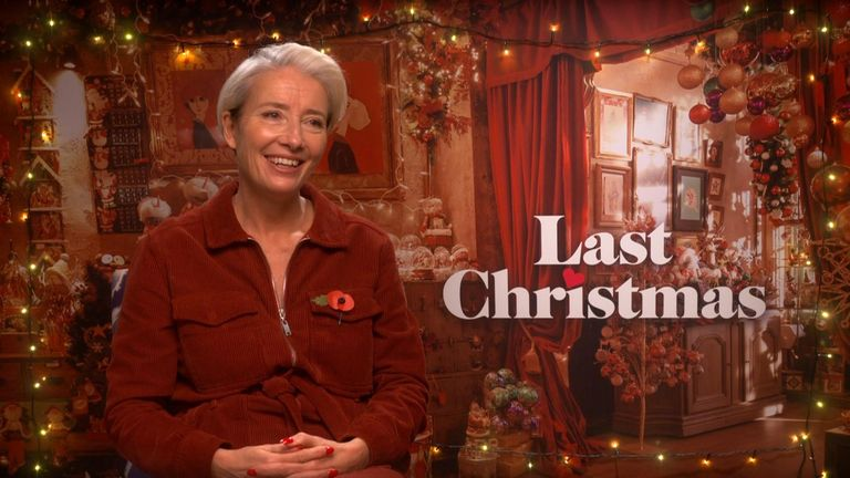 Emma Thompson talks to Sky News about Brexit and her new film Last Christmas.