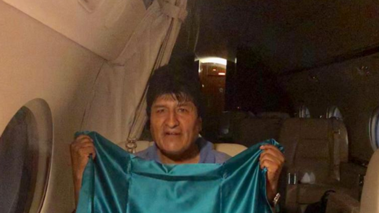 Evo Morales has been offered exile in Mexico . Pic: @m_ebrard