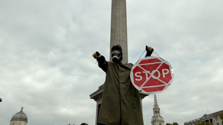 Extinction Rebellion protesters took over Trafalgar Square in October